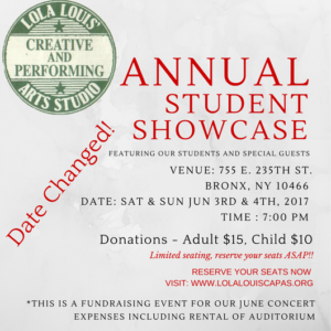ANNUAL SHOWCASE-Date chg